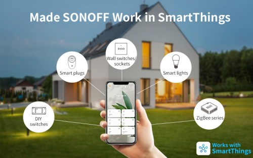 SONOFF smart home devices now interoperate more easily with Samsung SmartThings